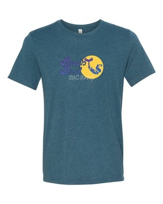 Mini Camp T-Shirt -  Steel blue Triblend- BB IV Logo