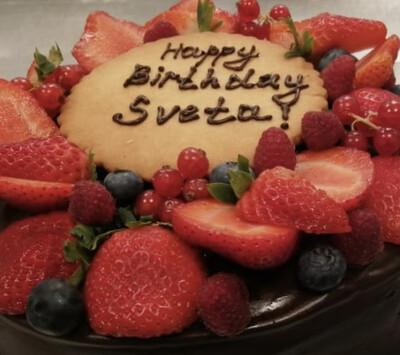 Надпись на торте