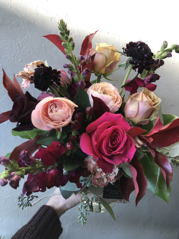 CHERRY BOMB MASON JAR - Botany Floral Studio