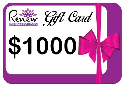 Renew Dermatology Digital Gift Card - $1000