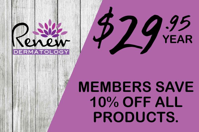 Renew Dermatology Annual Product Membership