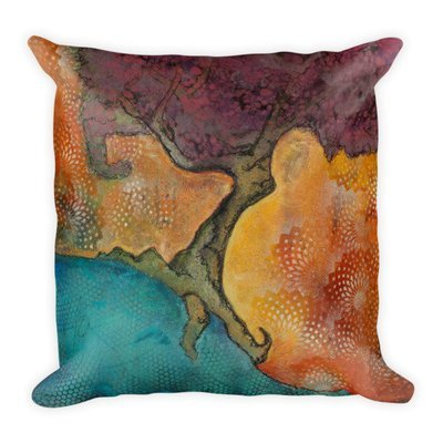 Dancing Tree   Square Pillow