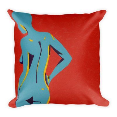 Waiting   Square Pillow