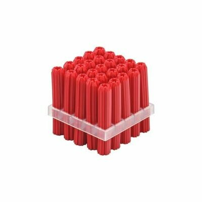 6mm X 50mm Red Wallplug 10g Tapered Point Bulk Pack - 25pc
