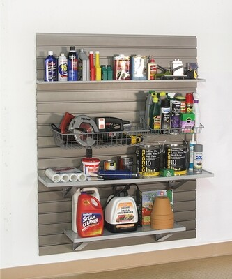 StoreWALL Shelf & Basket Kit