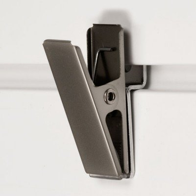 StoreWALL Brushed Chrome Clip