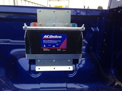 AUXILIARY BATTERY TRAY FORD RANGER PX (GEN2) TUB MOUNT (NO TUB LINER)BATTERY NOT INCLUDED