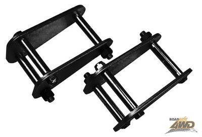 ROADSAFE EXTENDED SHACKLES NISSAN PATROL GQ WITH REAR LEAFS (TRAY BACKS) REAR