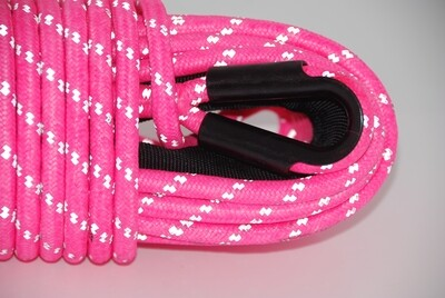 SABERPRO PINK REFLECTIVE DOUBLE BRAIDED WINCH ROPE-30M/100FT(10MM,8K)