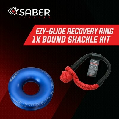 SABER EZY-GLIDE RECOVERY RING NEW +17K BOUND SOFT SHACKLE KIT
