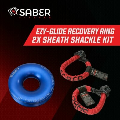 SABER EZY-GLIDE RECOVERY RING NEW+TWIN 14.7K SHEATH SOFT SHACKLE KIT