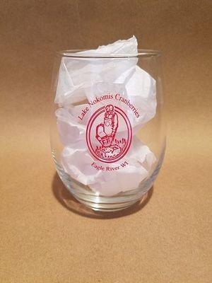 Lake Nokomis Imprinted Stemless Wine Glass