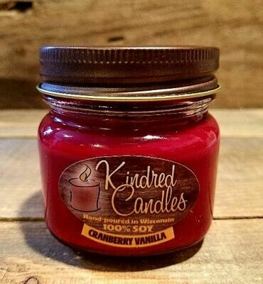 Kindred Candles Cranberry Vanilla Soy Candle