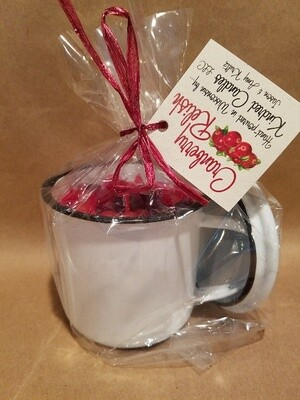 Enamel Cup Cranberry Relish Med Candle