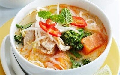 Chicken Laksa with Spicy Noodles