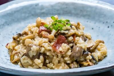 Mushroom Chicken & Bacon Risotto