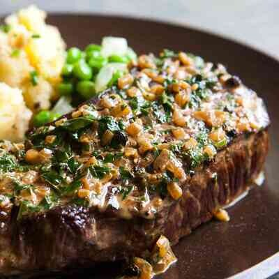 Green Peppercorn Steak