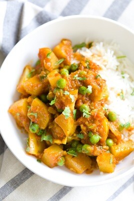Yellow Potato  Curry  (V)
