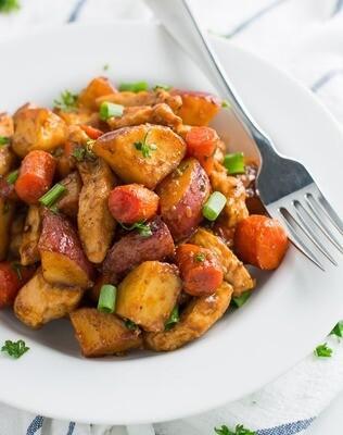 Chicken Yiros with Roast potato