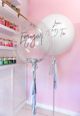SOLD OUT - 60CM Bespoke Bubble Balloon (+ Customisation Text)