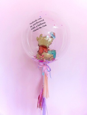 60CM Bubble + Fun Small Balloon Inside (With Customisation Text)