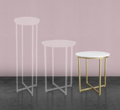 600mm Gold Marble Cake Table (SML)
