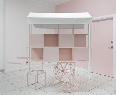 2000mm Pink Candy Cart