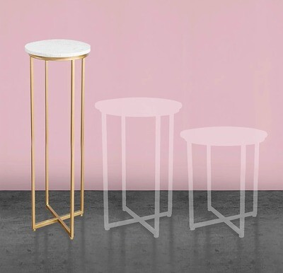 1100mm Gold Marble Cake Table (LRGE)