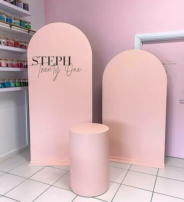 750mm Petal Blush Plinth