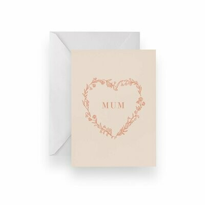 Heart Mum Card