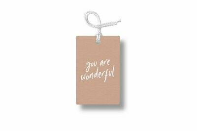 You Are Wonderful Gift Tag