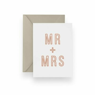 Block Mr + Mrs Card