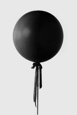 Jumbo Black Balloon
