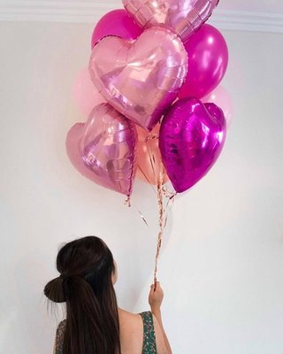 """""""With Love"""" Heart Balloons Bouquet"""