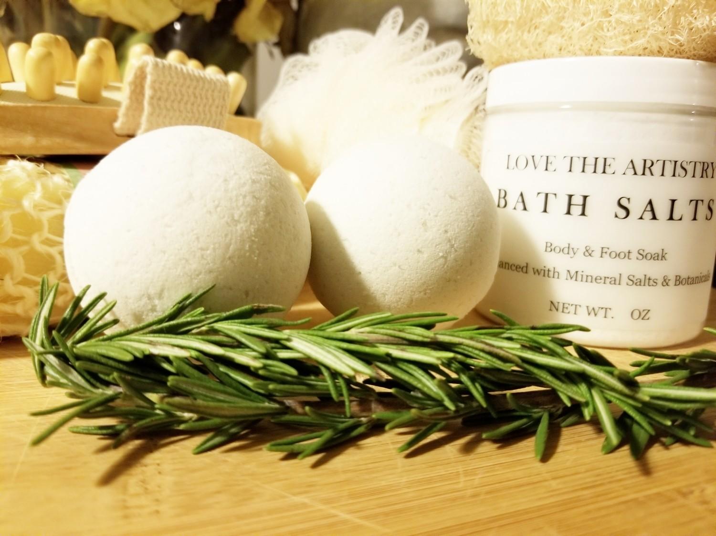 Muscle Relief Bath Salt Soak + Bath Bomb Bundle