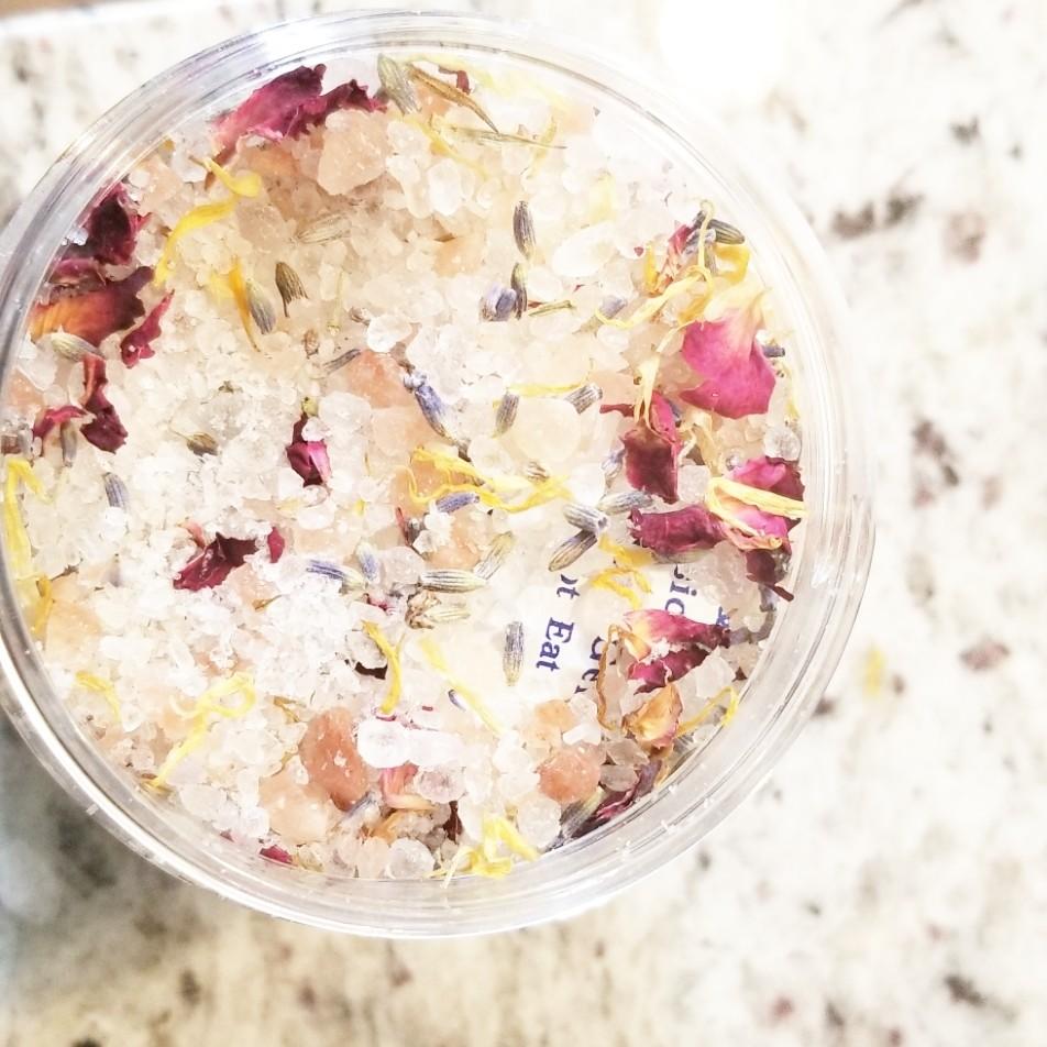Love Floral Herbal Bath Salt Soak + Isabel's Love Herbal Bath Bomb Bundle