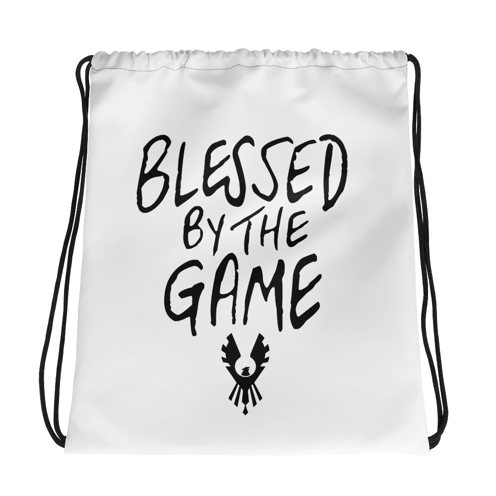 """""""Blessed By the Game"""" Drawstring bag"""