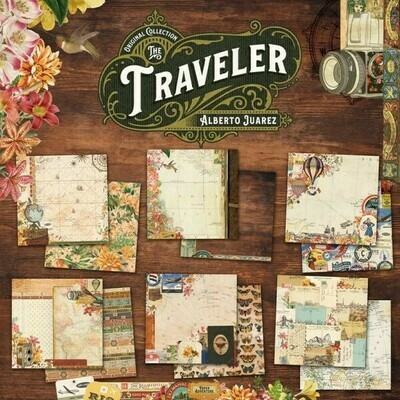 """Colección de Papeles Doble Cara 12""""x12"""" - Traveler"""