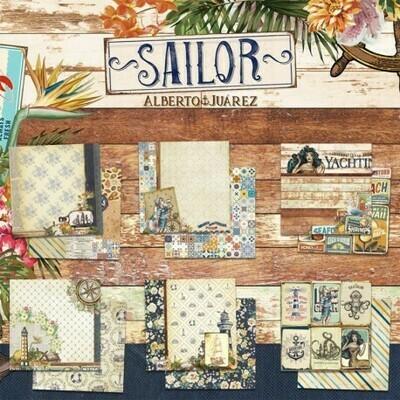 """Colección de Papeles Doble Cara 12""""x12"""" - Sailor"""