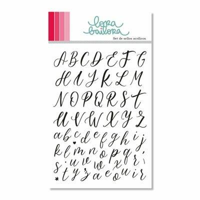 Set de Sellos - Alfabeto Scrip
