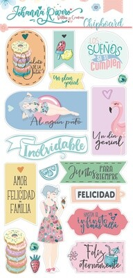 """Chipboards 6"""" x 12"""" - Dulces Momentos"""
