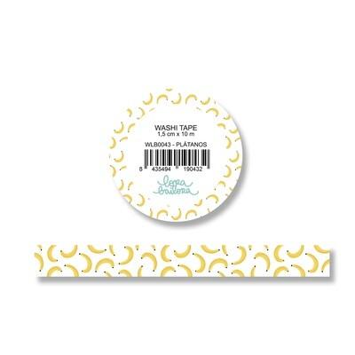 Washi Tape - Plátanos
