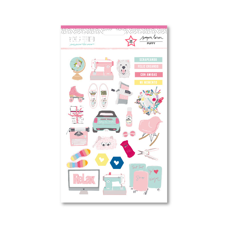 Puffy Stickers - Paper Lover