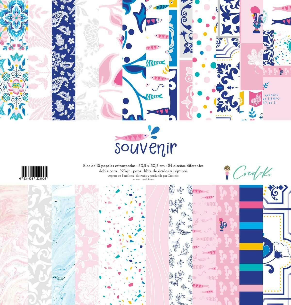 """Colección de Papeles 12""""x12"""" - Souvenir"""