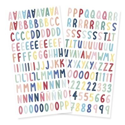Alfabeto Chipboard - Cuento de Invierno