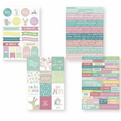 Set de Stickers - Palabras Magia