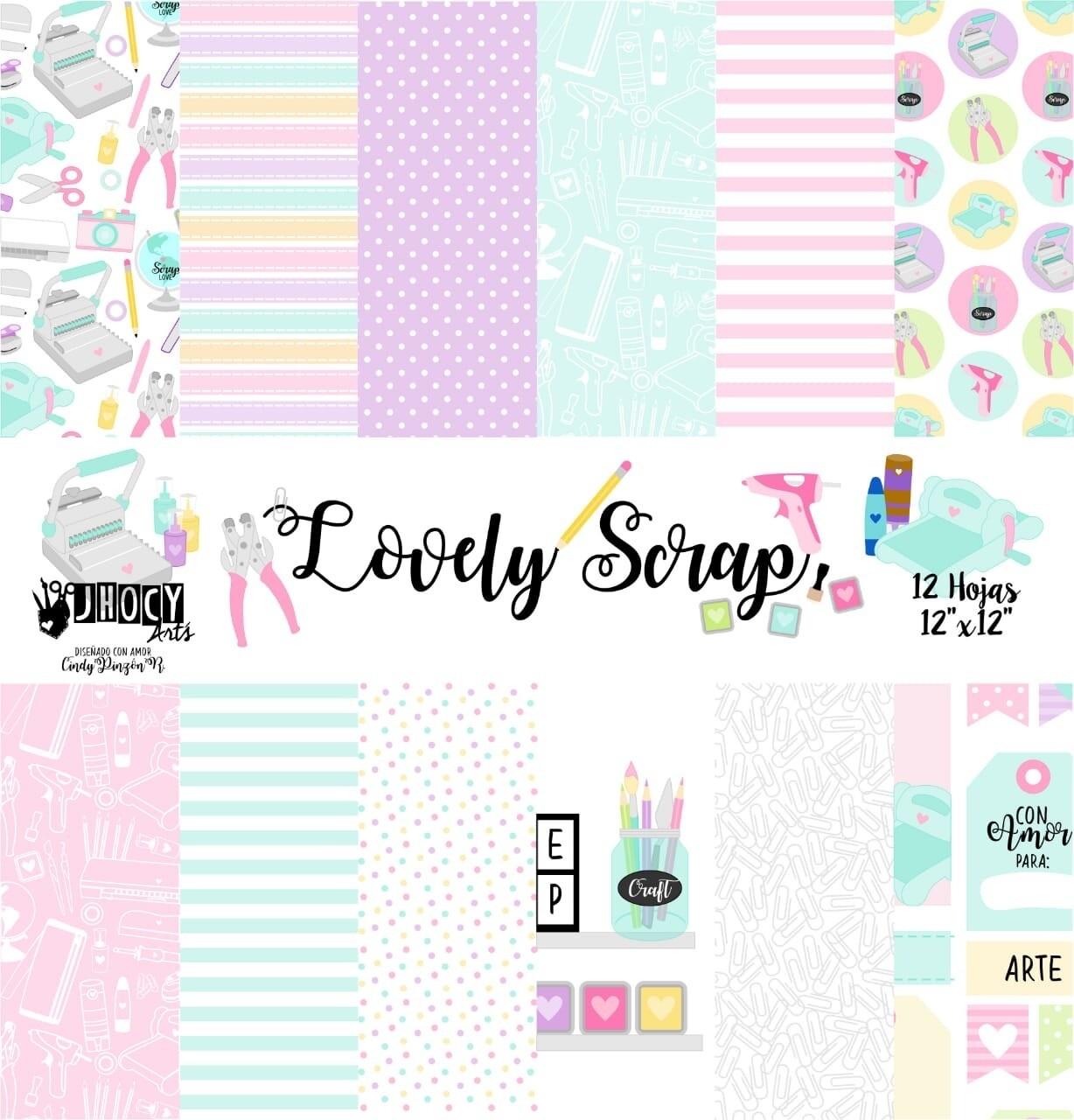 """Colección de Papeles 12""""x12"""" - Lovely Scrap"""