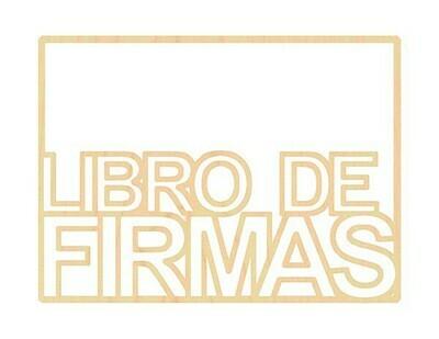 Marco de Madera - Libro de Firmas