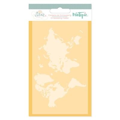 Carpeta de Embossing - Mapamundi