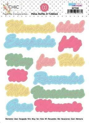 Stickers de Palabras - Chic
